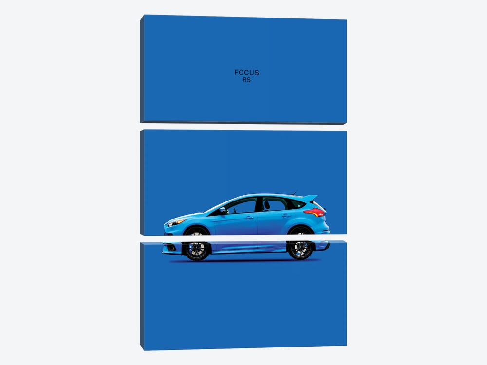 Ford Focus RS by Mark Rogan 3-piece Art Print