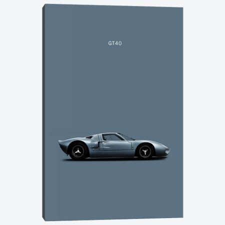 Ford GT40 Canvas Print #RGN144} by Mark Rogan Canvas Artwork
