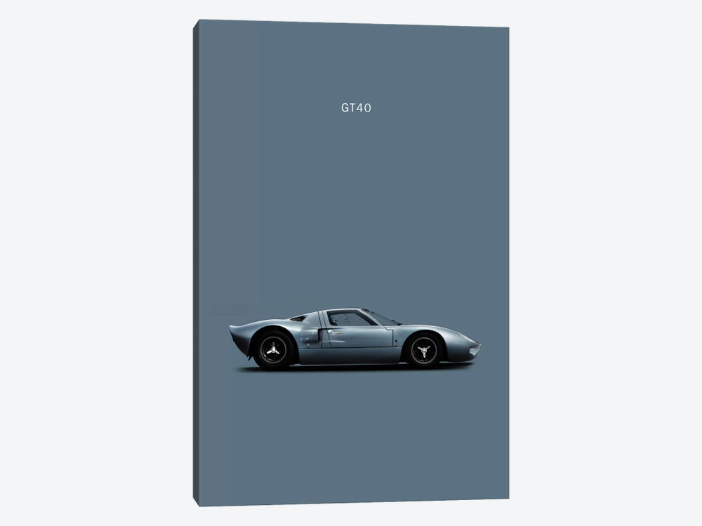 Ford GT40 by Mark Rogan 1-piece Canvas Wall Art