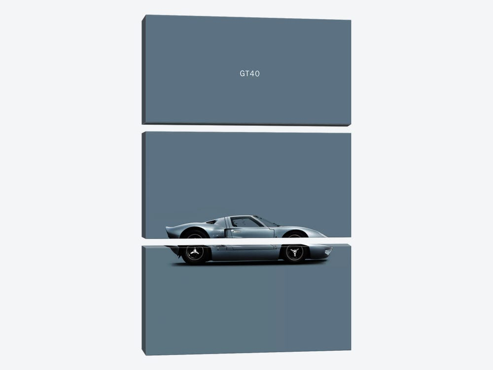 Ford GT40 by Mark Rogan 3-piece Canvas Wall Art
