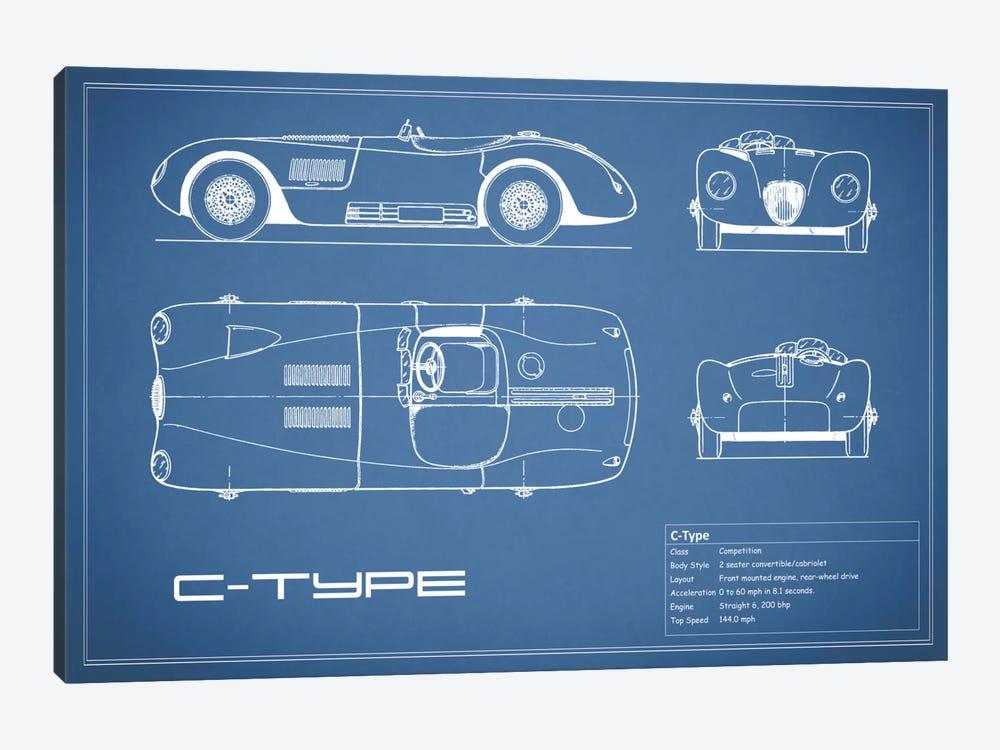 Jaguar C-Type (Blue) by Mark Rogan 1-piece Canvas Art Print