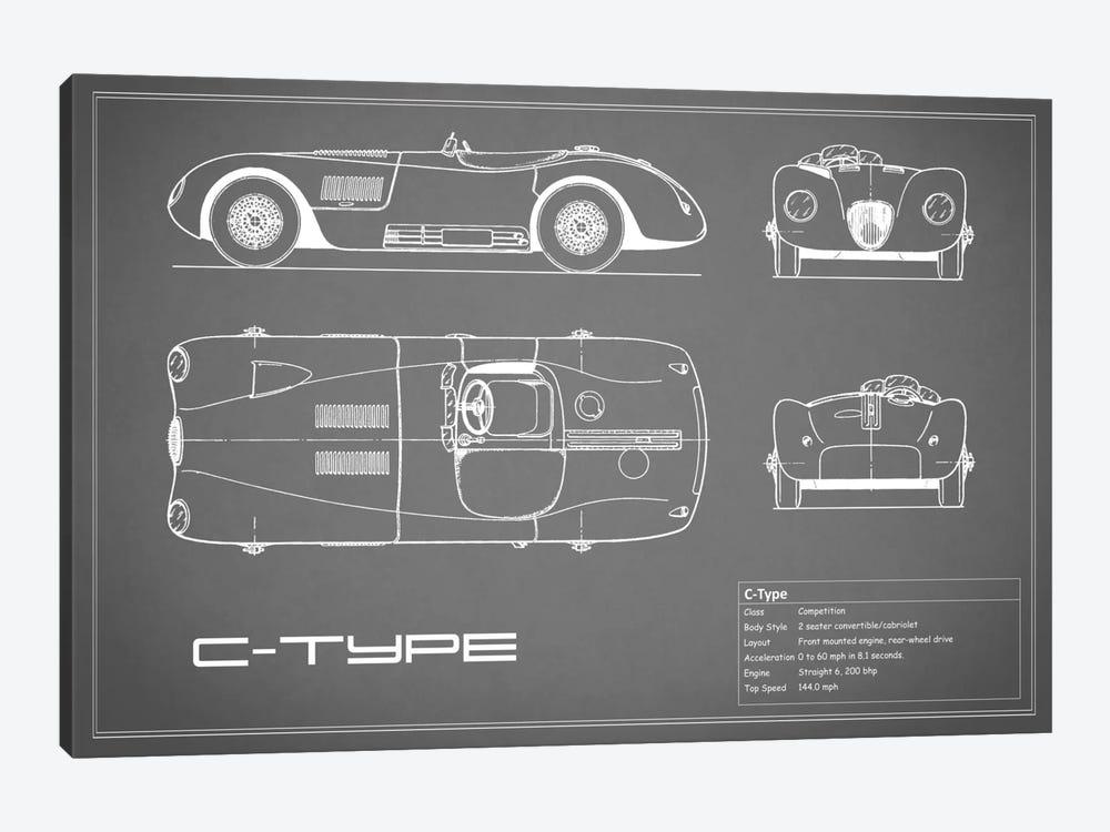 Jaguar C-Type (Grey) by Mark Rogan 1-piece Canvas Artwork