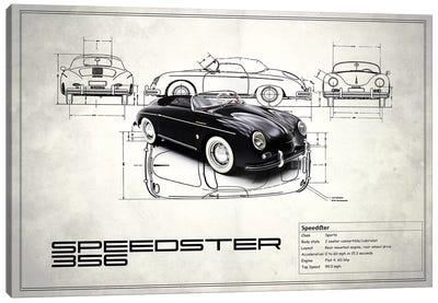 1959 Porsche 356 Speedster (Vintage Silver) Canvas Print #RGN16