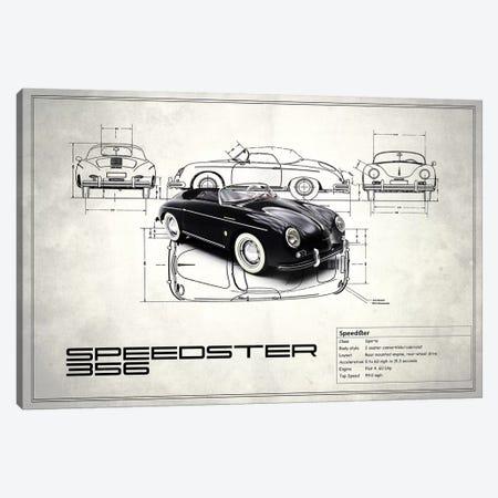 1959 Porsche 356 Speedster (Vintage Silver) Canvas Print #RGN16} by Mark Rogan Canvas Artwork