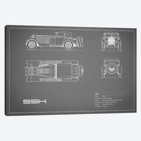 Mercedes-Benz SSK (Grey) Canvas Print #RGN179} by Mark Rogan Canvas Wall Art