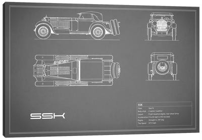 Mercedes-Benz SSK (Grey) Canvas Art Print