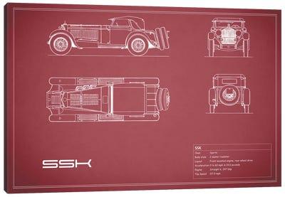 Mercedes-Benz SSK (Maroon) Canvas Print #RGN180