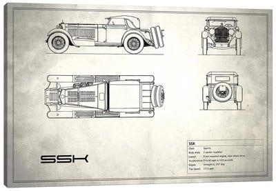 Mercedes-Benz SSK (Vintage Silver) Canvas Print #RGN181