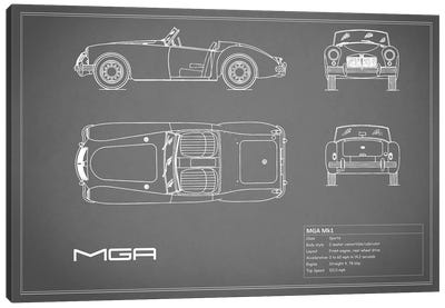 MG MGA Mark I (Grey) Canvas Art Print