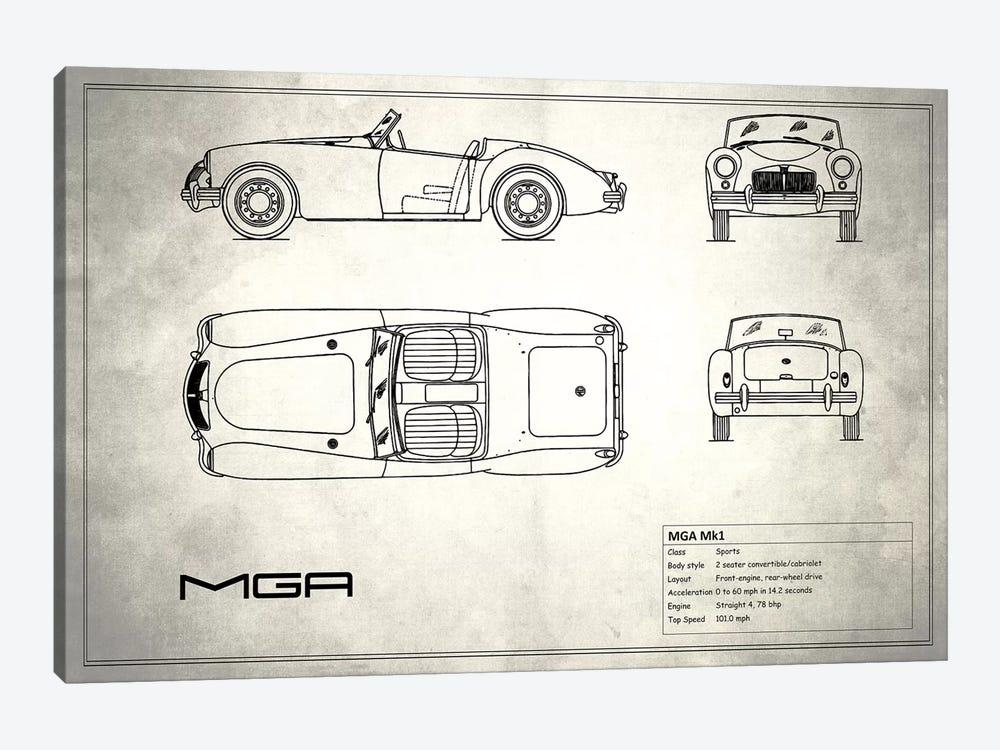 MG MGA Mark I (Vintage Silver) by Mark Rogan 1-piece Art Print
