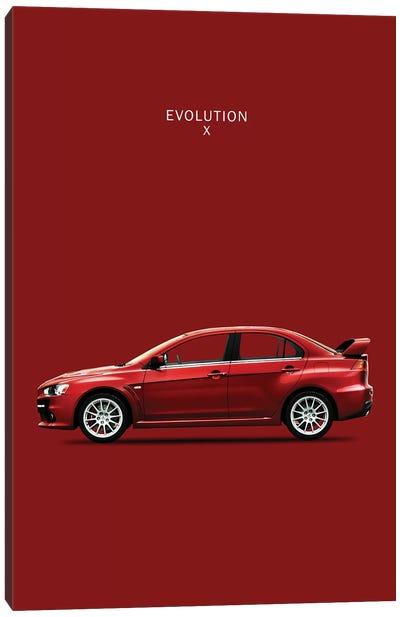Mitsubishi Lancer Evolution X Canvas Print #RGN191