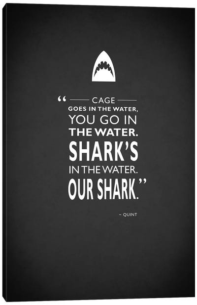 Movie Quote Series: Jaws Canvas Print #RGN196
