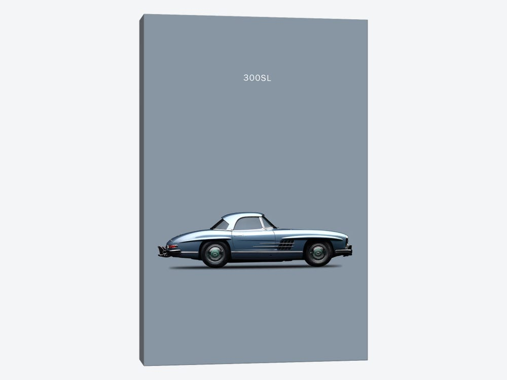 1960 Mercedes-Benz 300 SL by Mark Rogan 1-piece Canvas Artwork