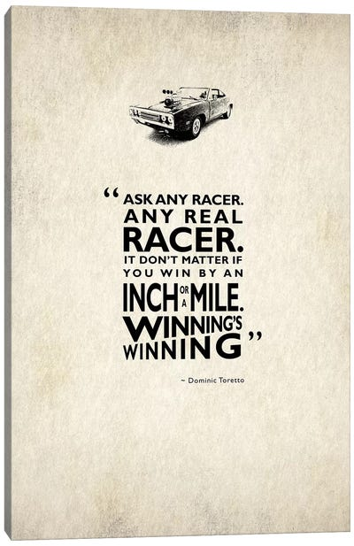 Movie Quote Series: The Fast And The Furious Canvas Print #RGN202