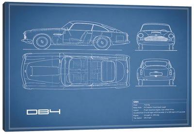 1962 Aston Martin DB4 (Blue) Canvas Art Print