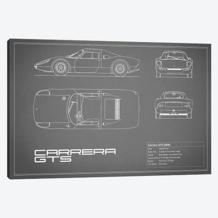 Porsche (904) Carrera GTS (Grey) Canvas Print #RGN210} by Mark Rogan Canvas Print