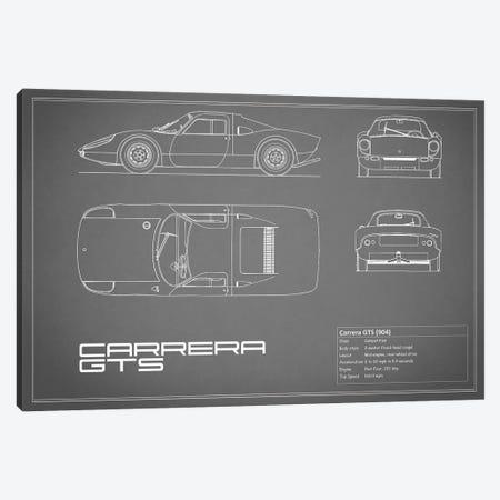 Porsche (904) Carrera GTS (Grey) Canvas Print #RGN210} by Mark Rogan Canvas Print