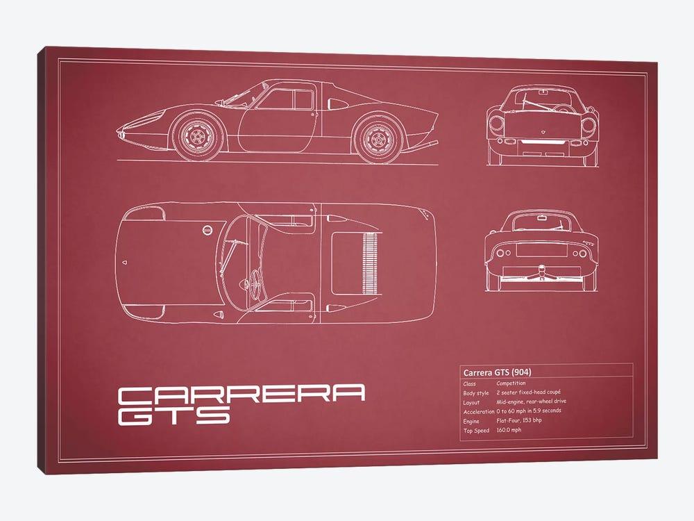 Porsche (904) Carrera GTS (Maroon) by Mark Rogan 1-piece Canvas Art