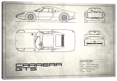 Porsche (904) Carrera GTS (Vintage Silver) Canvas Print #RGN212