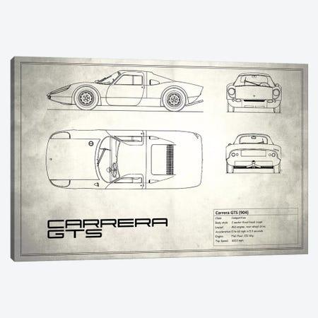 Porsche (904) Carrera GTS (Vintage Silver) Canvas Print #RGN212} by Mark Rogan Canvas Art Print