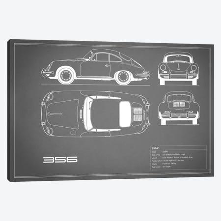 Porsche 356 C (Grey) Canvas Print #RGN214} by Mark Rogan Canvas Art