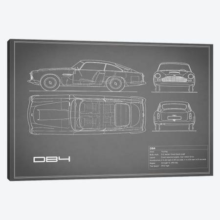 1962 Aston Martin DB4 (Grey) Canvas Print #RGN21} by Mark Rogan Canvas Wall Art