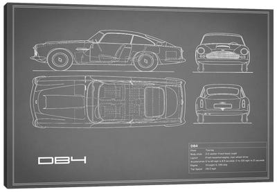 1962 Aston Martin DB4 (Grey) Canvas Art Print