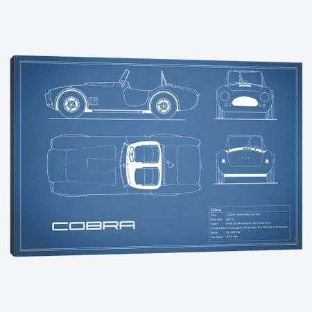 Shelby Cobra (Blue) Canvas Print #RGN225} by Mark Rogan Art Print