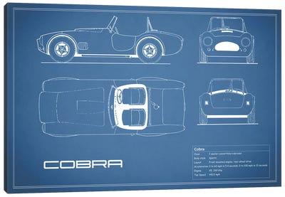 Shelby Cobra (Blue) Canvas Print #RGN225