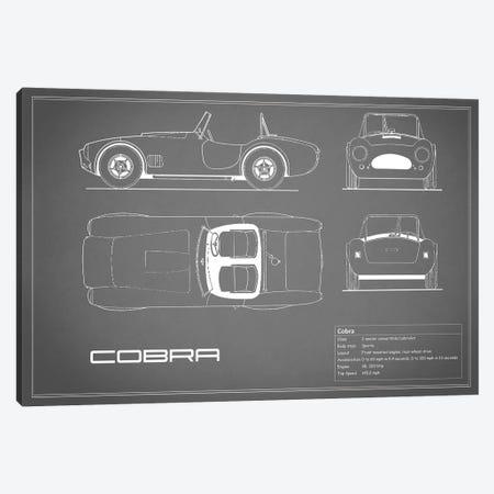 Shelby Cobra (Grey) Canvas Print #RGN226} by Mark Rogan Canvas Art Print