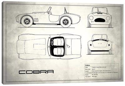 Shelby Cobra (Vintage Silver) Canvas Print #RGN228