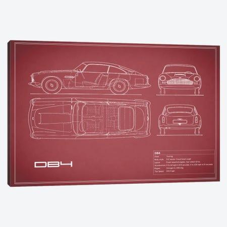 1962 Aston Martin DB4 (Maroon) Canvas Print #RGN22} by Mark Rogan Canvas Wall Art