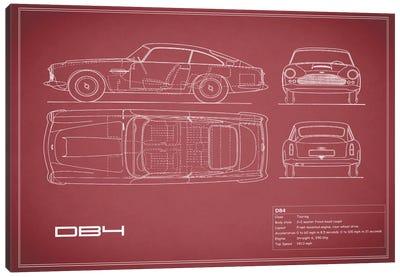 1962 Aston Martin DB4 (Maroon) Canvas Art Print