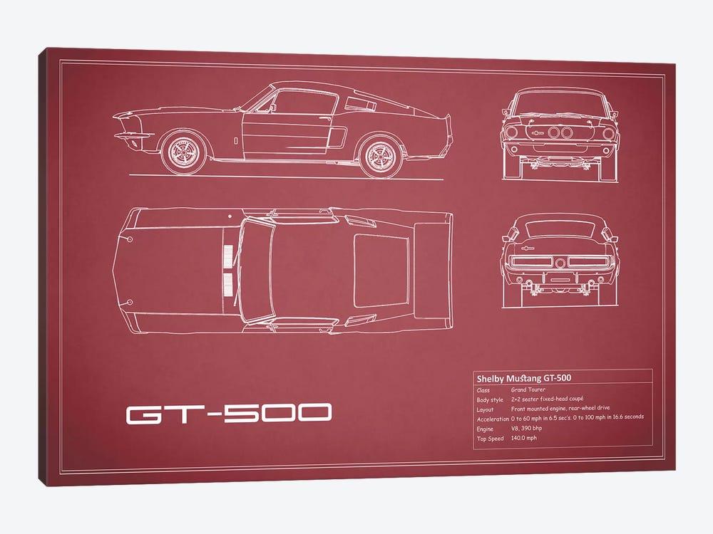 Shelby Mustang GT500 (Maroon) by Mark Rogan 1-piece Canvas Art
