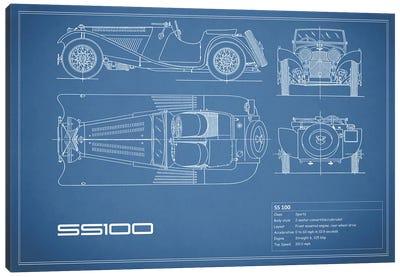 SS Cars Ltd. (Jaguar) 100 (Blue) Canvas Print #RGN233