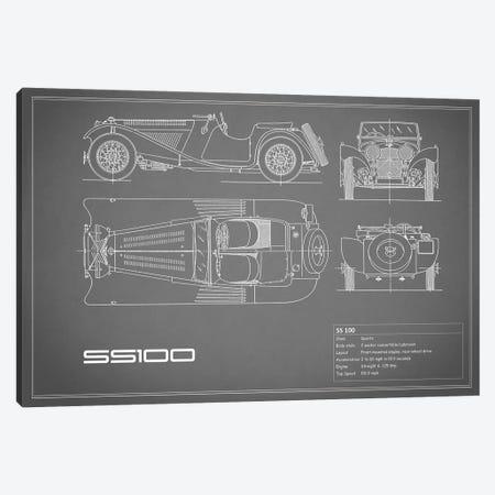SS Cars Ltd. (Jaguar) 100 (Grey) Canvas Print #RGN234} by Mark Rogan Canvas Art