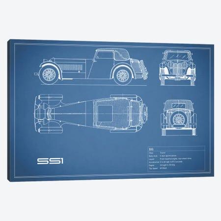 Swallow Coachbuilding Company (Jaguar) SS 1 (Blue) Canvas Print #RGN238} by Mark Rogan Canvas Art Print
