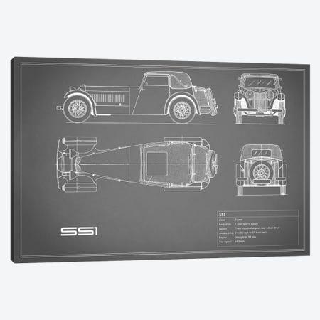Swallow Coachbuilding Company (Jaguar) SS 1 (Grey) Canvas Print #RGN239} by Mark Rogan Canvas Art Print