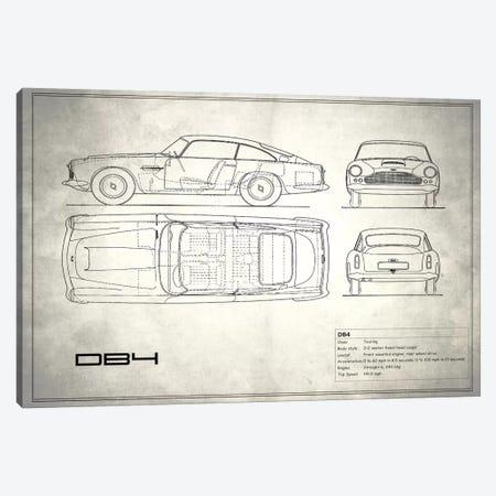 1962 Aston Martin DB4 (Vintage Silver) Canvas Print #RGN23} by Mark Rogan Canvas Artwork
