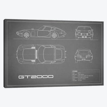 Toyota 2000GT (Grey) Canvas Print #RGN244} by Mark Rogan Canvas Print