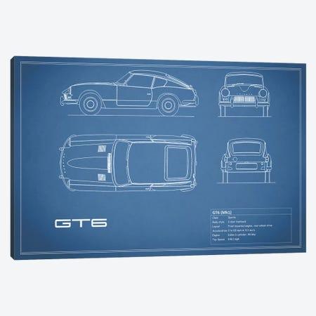 Triumph GT6 Mark I (Blue) Canvas Print #RGN248} by Mark Rogan Canvas Art