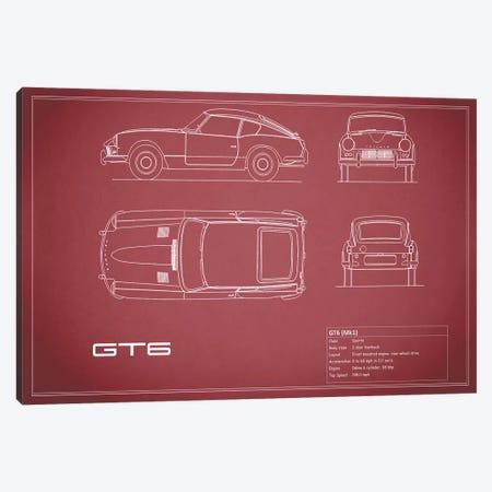 Triumph GT6 Mark I (Maroon) Canvas Print #RGN249} by Mark Rogan Canvas Artwork