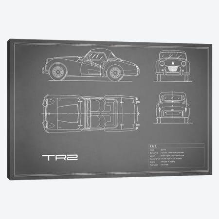 Triumph TR2 (Grey) Canvas Print #RGN252} by Mark Rogan Canvas Art Print
