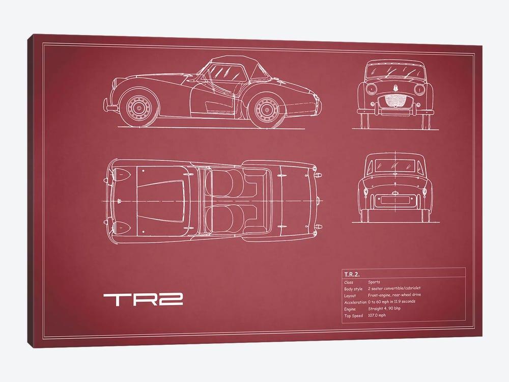 Triumph TR2 (Maroon) by Mark Rogan 1-piece Canvas Artwork