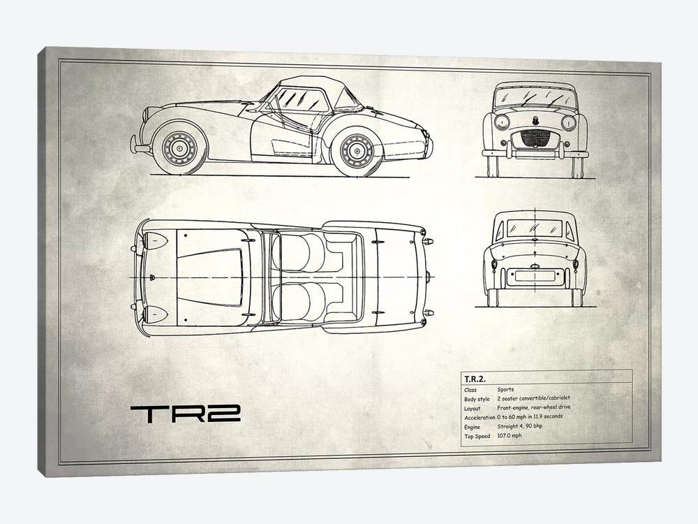 Triumph TR2 (Vintage Silver) by Mark Rogan 1-piece Canvas Art Print