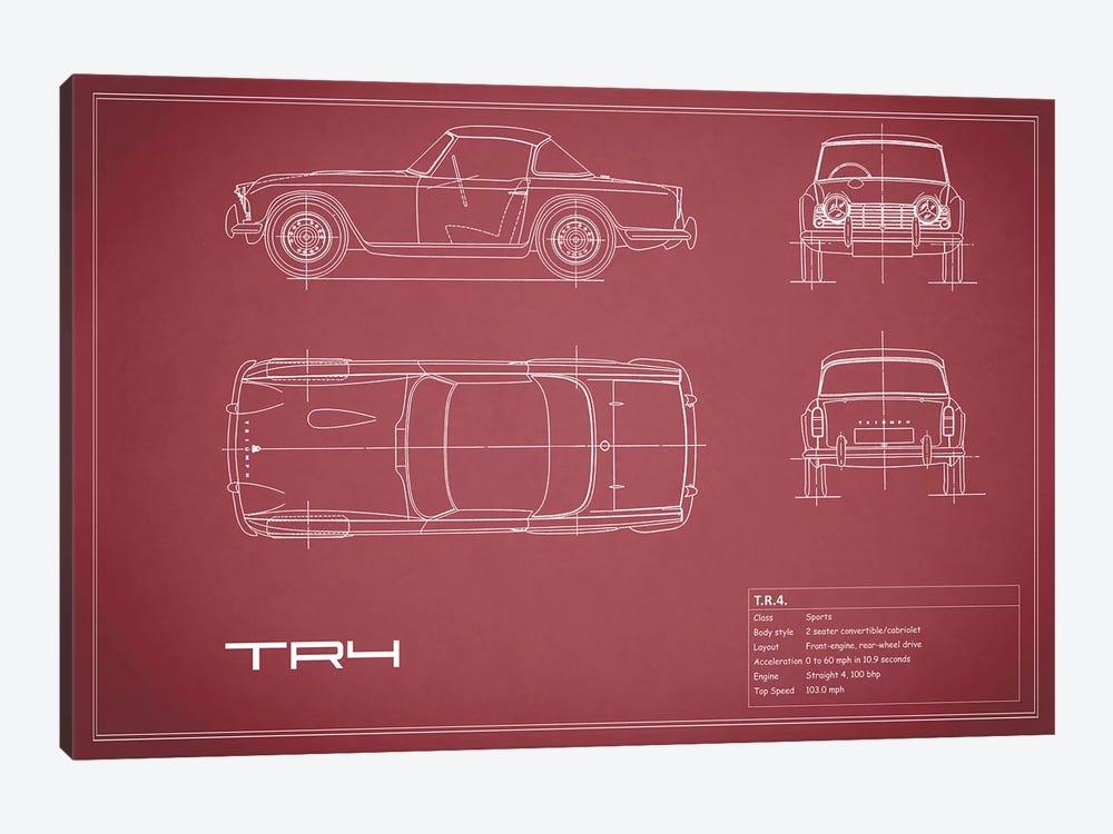 Triumph TR4 (Maroon) by Mark Rogan 1-piece Canvas Wall Art