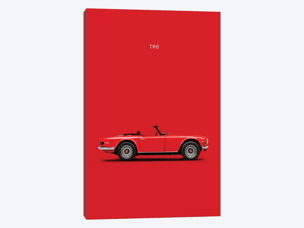 Triumph TR6 by Mark Rogan 1-piece Canvas Artwork