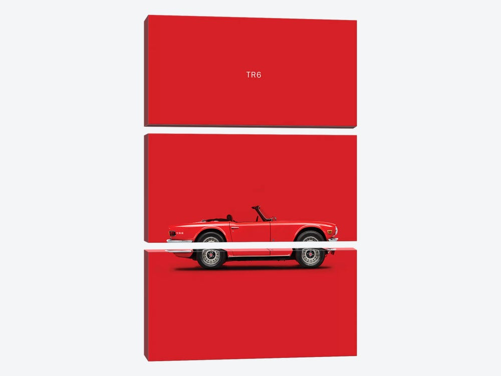 Triumph TR6 by Mark Rogan 3-piece Canvas Art