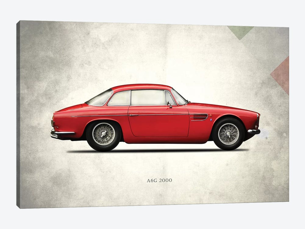 1956 Maserati A6G 2000 by Mark Rogan 1-piece Canvas Artwork