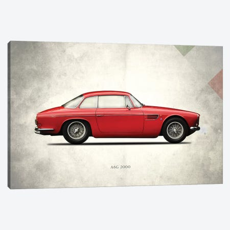 1956 Maserati A6G 2000 3-Piece Canvas #RGN262} by Mark Rogan Canvas Wall Art